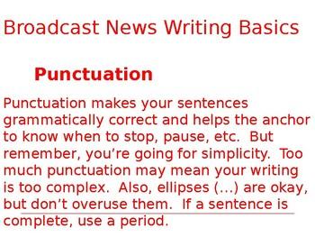 Broadcast Writing Basics