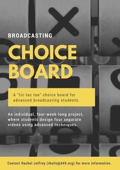 Broadcasting Choice Board Activity