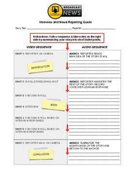 Broadcasting Story Template for Students