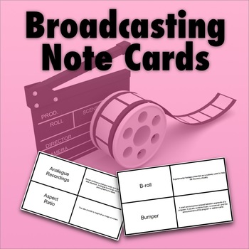 Broadcasting Terms Note Cards