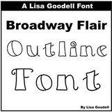 Broadway Flair OUTLINE Font