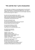 """Broadway Lyrics Analyzation Exercise """"Me and the Sky"""" From"""