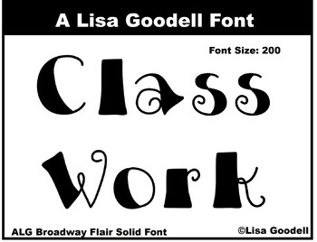 Broadway Solid Flair Font
