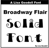 Broadway Flair Solid Font