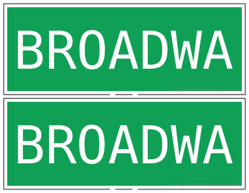 photo regarding Printable Street Signs identified as Broadway Highway Indicator Printable Poster