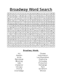 Broadway Word Search