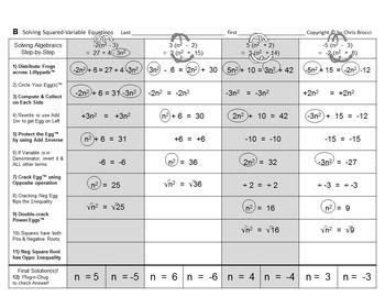 Brocci Bundle Algebra E: Solve for the Variable in Equations BIG Bundle