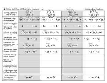 Brocci Bundles: Algebra - Solving Equations & Inequalities Bundle (31 L, 63 WS)