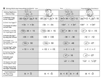 Brocci Bundle Algebra J: Solve for the Variable in Inequalities Bundle