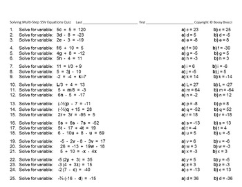 Brocci Bundles: Algebra - Solving Multi-Step, NON-power Equations Bundle (13 L)