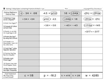 Brocci Bundles: Algebra - Solving NON-power Equations Bundle (17L, 35 WS, 313 P)