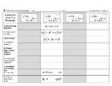 Brocci Bundle Algebra i: Solve for Area (incl. Pythagorean Theorem methods) BIG