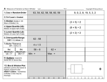 Brocci Bundles: Box and Whisker Bundle (4 Lessons, 10 Work
