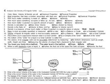 Brocci Bundles: Density - Hands-on Experimental Calculation of Density Bundle