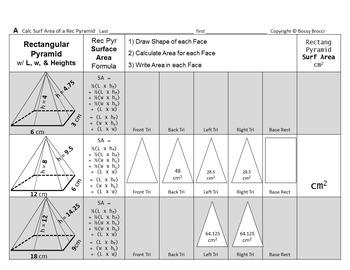 Brocci Bundles: Surface Area Volume Change Dimension Recta