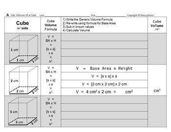 Brocci Bundles: Surface Area Volume Changing Dimensions Cubes Bundle
