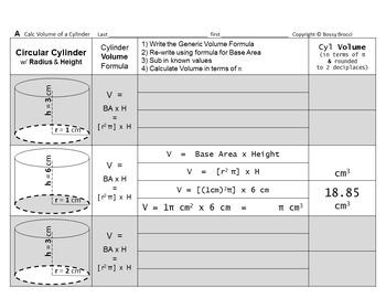 Brocci Bundles: Surface Area Volume Changing Dimensions Cylinders Bundle