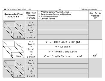 Brocci Bundle V2: The Volume of Triangular & Rectangular PRISMS Cubes Bundle