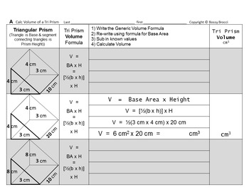 Brocci Bundles: Volume - Volume of Tri & Rectangular PRISMS & PYRAMIDS Bundle