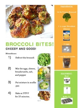 Broccoli Bites Adapted Recipe