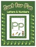 Broccoli Shape Posters - Alphabet & Numbers - Just for Fun