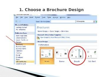 Brochure 101 using Microsoft Publisher