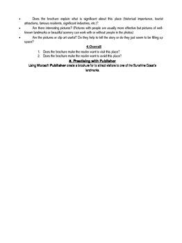 Brochure Activity