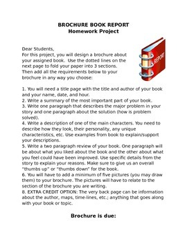 Brochure Book Report Project