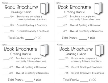 brochure book report students love to create a book brochure tpt