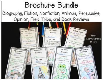 Brochure Bundle {Biography, Persuasive, Opinion, Fiction,