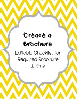 Brochure Checklist - EDITABLE