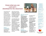 Brochure: Copyright Laws in Teaching -Nice format, use to