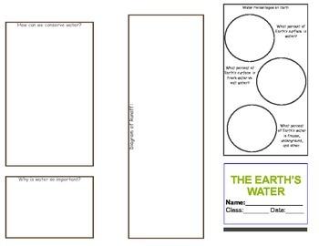 Brochure Duo: Plate Tectonics Brochure AND Water Brochure