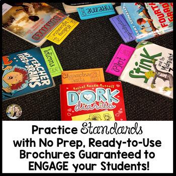 Standards-Based Brochure Tri-folds  (A Growing Bundle) 4th Grade