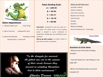 Brochure - Intro to Biology Science Class