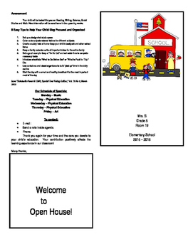 Brochure Parent Night/Open House/Orientation MUST SEE!!!!