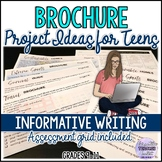 Brochure Project Ideas for Teens (Informative writing) Hom