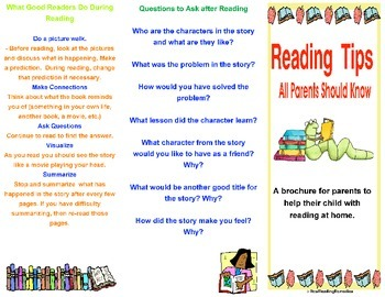 Meet the teacher parent resource reading tips for parents for Meet the teacher brochure template