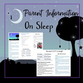 Sleep info for parents Brochure/ flyer