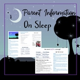 Sleep info for parents Brochure/ flyer