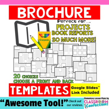 Brochure Templates: for book reports, research projects, & writing activities