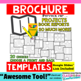Brochure Templates: for book reports, research projects, &