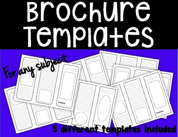 Brochure Templates - For Any Subject Area