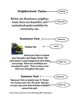 Brochure Text Features (2nd - 3rd grade)