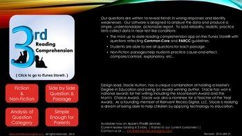 Brochure for 3rd Grade Reading Comprehension App