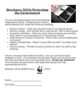 Brochure on Environmental NGO