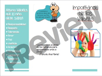 Brochure sobre la Importancia de los Valores