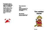 Brochure sur un metier (Brochure presenting a career)
