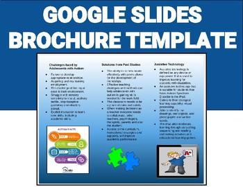 Brochure Template Google Worksheets Teaching Resources Tpt