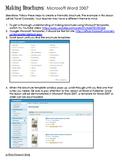 Brochures Using Word 2007/ Technology Integration